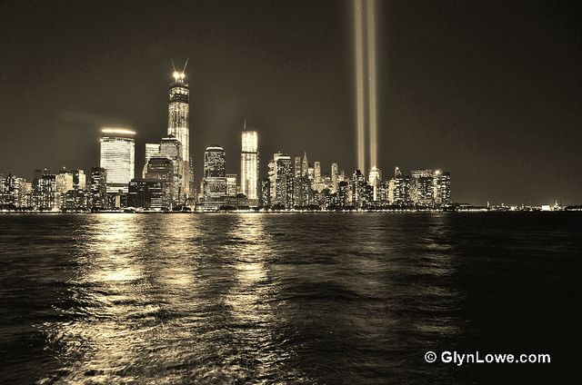 A photo similar to this one hung in my mother's house for years after the attacks