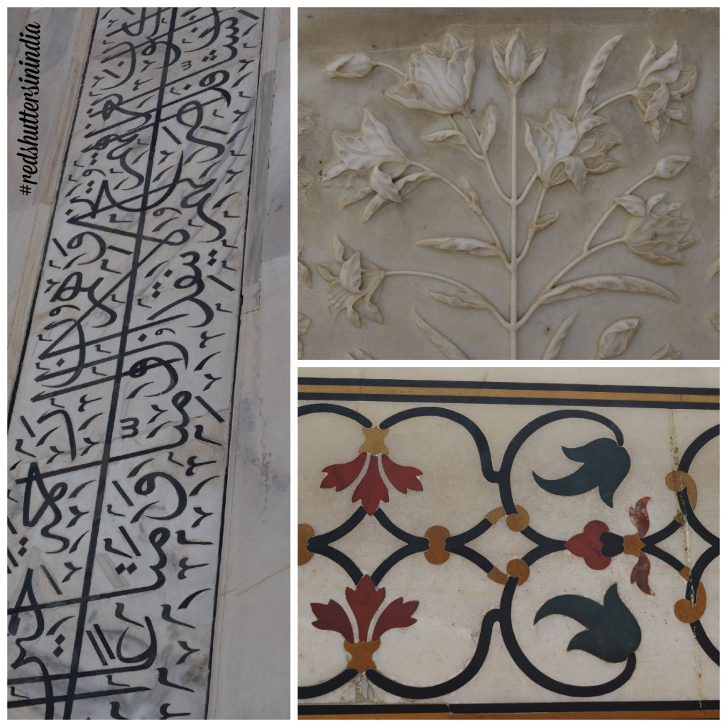 The gorgeous inlaid work that covers the Taj